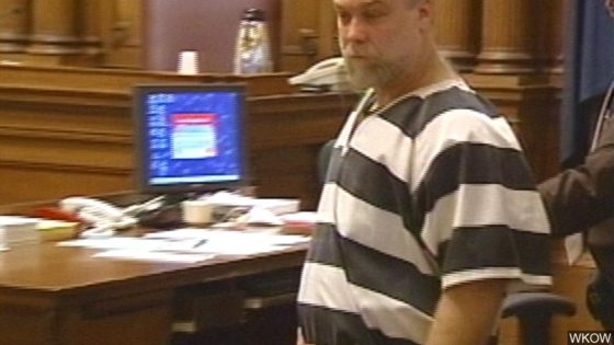 Steven Avery being led from the court room.