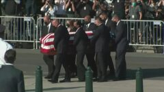 The casket of the late Supreme Court Justice Ruth Bader Ginsburg will lie in repose for two days at the Supreme Court building.