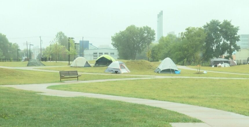 Madison homeless encampment 9-9-2020