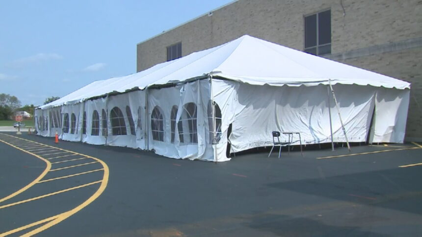 Tents as classrooms 9-16-2020