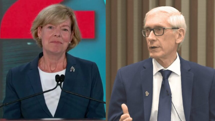 Tony Evers and Tammy Baldwin