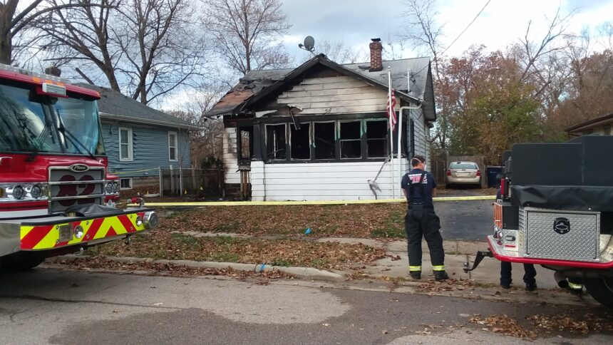 Firefighters on the scene of a fatal house fire overnight in Janesville.