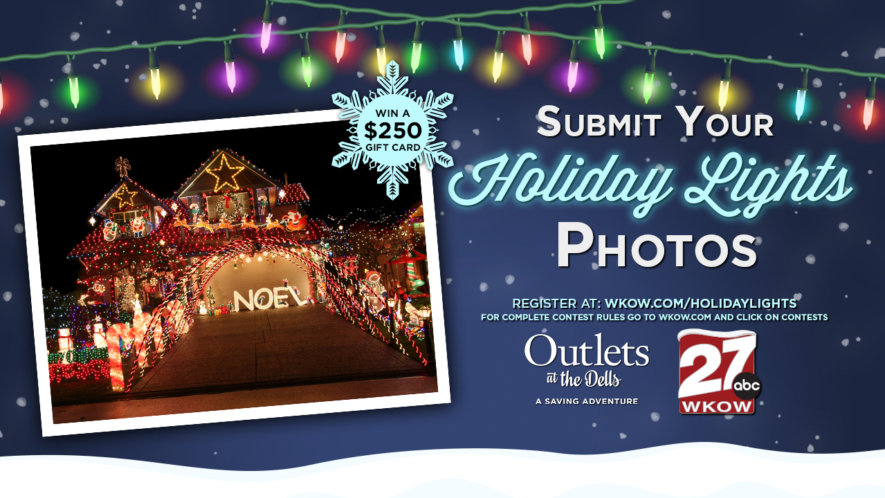Upload you holiday lights photo for a chance to win.