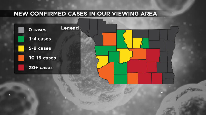 1-12 Viewing Area New Cases