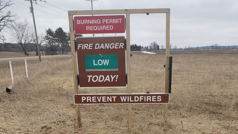 Wildfire sign 3