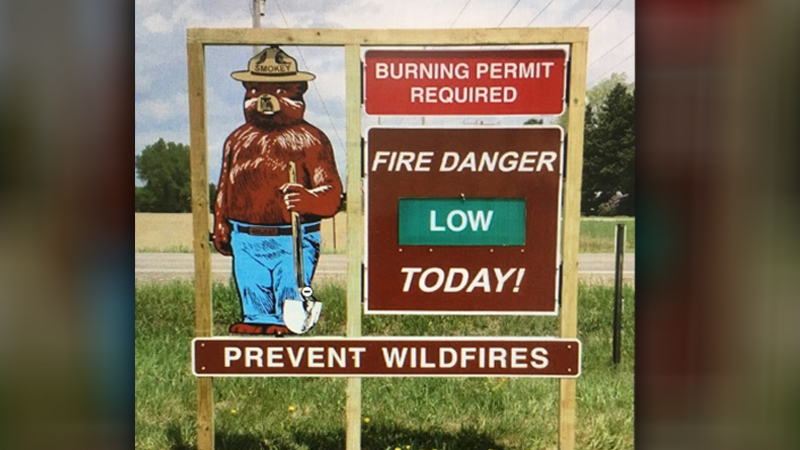 Wildfire sign