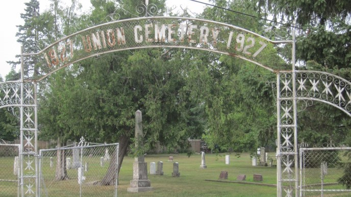Union Cemetery sign
